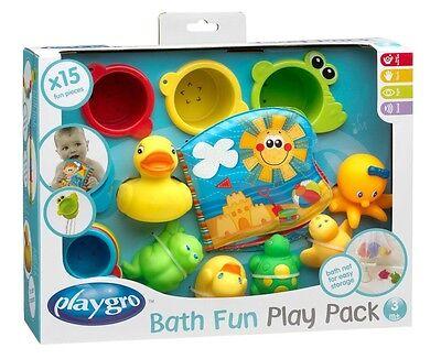 Playgro Badespielzeug-Geschenkset Baby Wasserspielzeug Badewanne 15tlg.