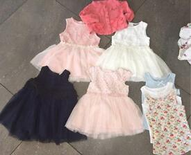 4 next dresses, 3 next vests, 1 baby k cardigan