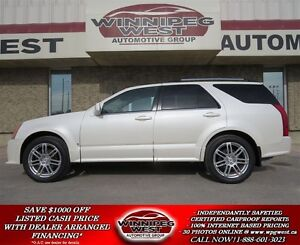 2008 Cadillac SRX ALL WHELL DRIVE SPORT, PEARL WHITE, PANORAMIC