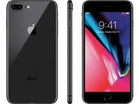 *Factory Unlocked - Excellent* 64GB Apple iPhone 8 Plus+ Space Grey 4G/LTE latest iOS 11.4