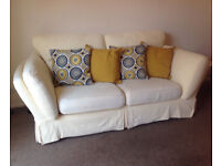3 Seater Settee Couch Sofa Lemon DFS 4 Cushion Covers