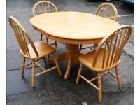 Chunky Extending Table & Chairs