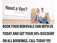 REMOVALS MAN & LUTON VAN, HOUSE MOVING, OFFICE MOVES / CLEARANCES (Near Beckton Ilford Bow Hackney)