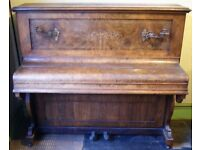 1880's Herrap Wood Upright Piano