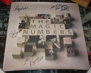 THE-MAGIC-NUMBERS-VERY-RARE-FULLY-HAND-SIGNED-RECORD-STORE-PROMO-POSTER-2005