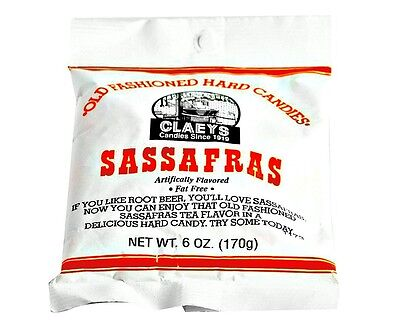 Claey's SASSAFRAS Old Fashioned Hard Candy (24)  6 OZ BAGS - FRESH & BEST PRICE