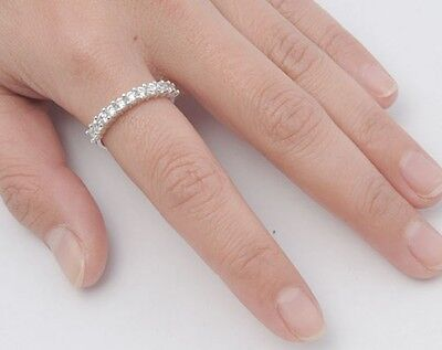 Clear CZ Eternity Rings Sterling Silver 925 Best Price Jewelry Gift (Best Cz Rings)