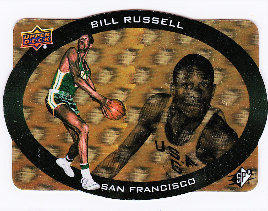 BILL RUSSELL 2014-15 SPX 95-95 DESIGN GOLD PARALLEL DIE CUTS /5 ONLY 5 PRODUCED - $95.00