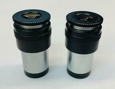 A Pair Of Leitz Periplan Gf 12.5x M Mf Adjustable Microscope Eyepieces 23mm