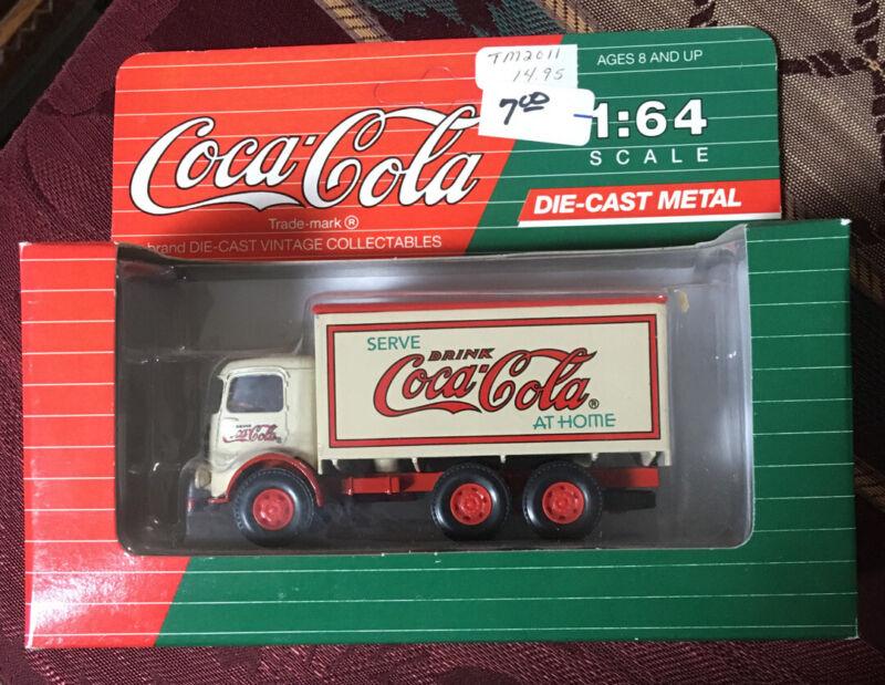COCA-COLA DELIVERY TRUCK MACK MODEL CJ 1:64 SCALE DIE CAST METAL 1993 MIB