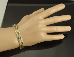 Must see! As New 14K Gold Diamond Bracelet - 54.4grams + 2.2ct Winston Hills Parramatta Area Preview