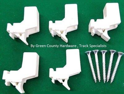 5 HARRISON DRAPE CURTAIN TRACK BRACKETS extra super standard rail supports W1793
