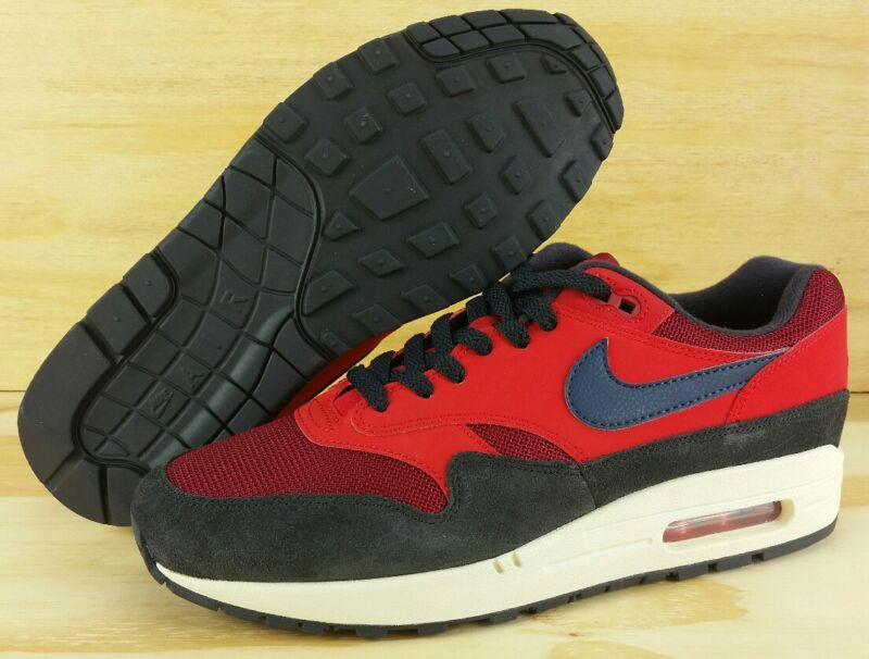 free shipping d6891 90b8e Nike Air Max 1 CLASSIC RED CRUSH MIDNIGHT NAVY AH8145-600 NEW 2018 Men s  Size