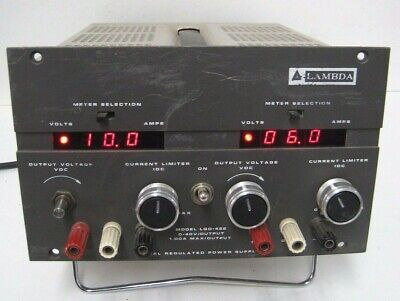Lambda Lqd-422 Dual Regulated Power Supply Digital Screen 0-40v 1a Output