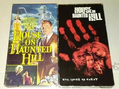 House On Haunted Hill Original & Remake Vhs Original Releases Both Play Perfect