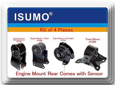 Bulk El Wire (Kit 4 Pcs Engine & Trans Mount Fits: Nissan Maxima 1995-2001 V6 3.0L Rear)