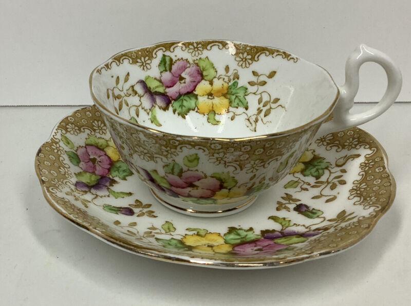 Vintage Royal Albert Lovelace Tea Cup & Saucer