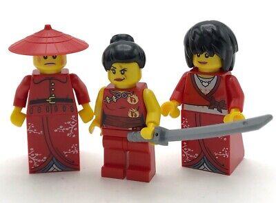 LEGO 3 NEW RED NINJA NINJAGO FIGURES GIRL FIGURES NYA WITH SWORD FEMALE