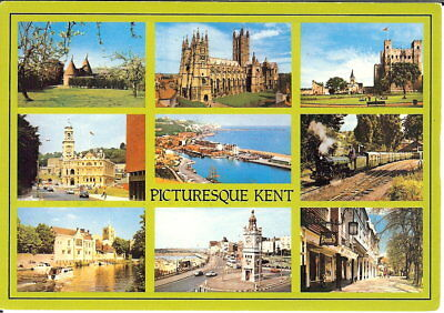 Kent: Picturesque Kent, Multi-view- Posted c.1990's