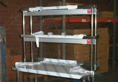 16x48 Stainless Steel Double Tier Over Shelf