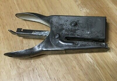 Vintage Neva Clog N-c Model J-30 Hand Held Heavy Duty Stapler