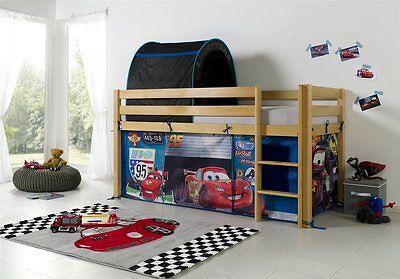 Vorhang mit Tunnel Textilset für Hochbett Spielbett Etagenbett Lizenz Cars