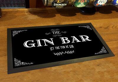 The Gin Bar runner, vintage style party counter mat bar mat tweedehands  verschepen naar Netherlands