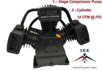 Air Compressor Pump - 1-stage 3-cylinder 14 Cfm 90 Psi