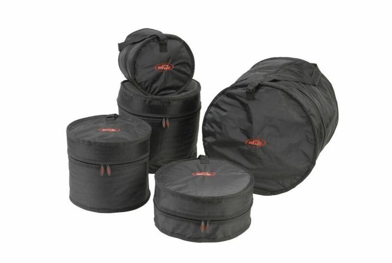 SKB 1SKB-DBS3 5 Piece Drum Travel Gig Bag Set 1SKBDBS3 Heavy-Duty Zippers