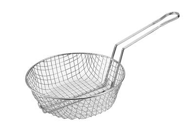 Winco Msb-08 8 Diameter Coarse Mesh Nickel Plated Culinary Basket