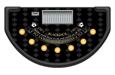 Professional Casino Black Spade Design Blackjack Table Layout / Felt - Blackjack Table