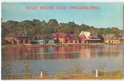 Philadelphia Pennsylvania PA Boat House Row 1960s Antique Chrome Postcard 26085