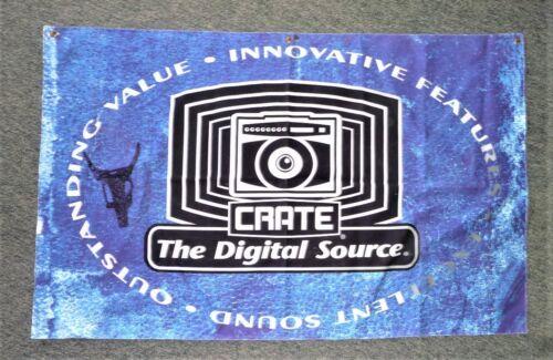 "Vintage CRATE Dealer  Banner Amps & P.A.  48"" X  29 1/2"" 3 grommets on top"