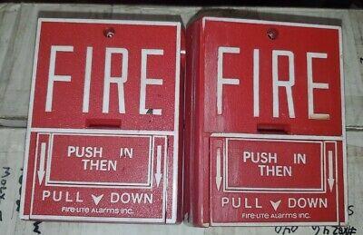 2 - Fire-lite Alarms Bg-10l 24v Dc Fire Alarm Conventional Pull Station