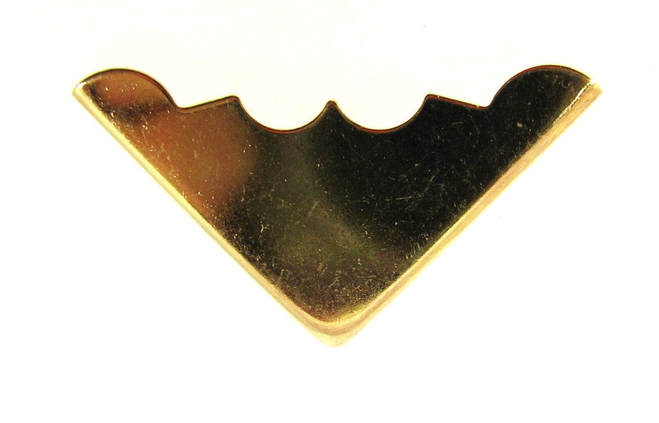 Decorative Box Corner Brass Plated : Pc brass plated decorative box corners straight back