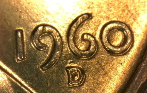 1960-D Lincoln Cent Repunched Mintmark RPM-064 BU Uncirculated Variety