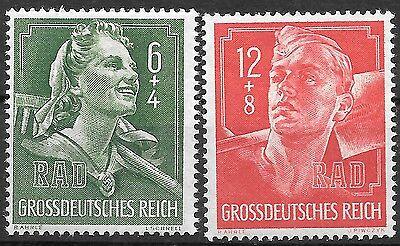 Nazi Germany Third Reich Mi# 894-895 MNH Labor Corps 1944 **