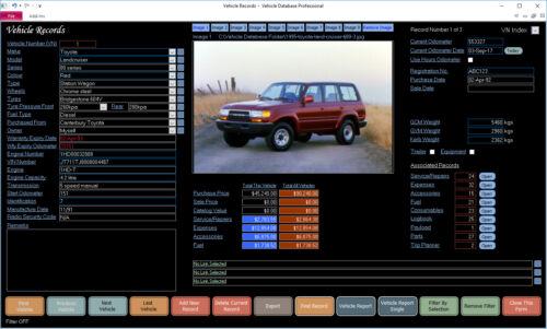 Vehicle Maintenance Database Professional for Windows CDROM