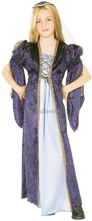 Girl/'s Green Rich Long Tudor Medieval Girl Book Day Fancy Dress Costume Outfit