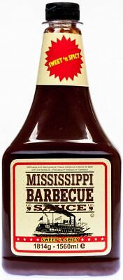 (3,85€/1kg)  Mississippi Barbecue Sauce Sweet'n Spicy 1814g BBQ Sauce