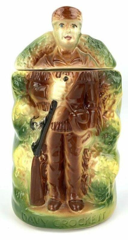 Davy In The Woods Davy Crockett American Bisque Cookie Jar