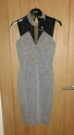 Topshop black and grey dress, Size M