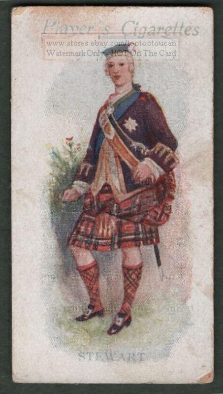 Stewart Family Clan Scotland History Celtic Tartan 100+ Y/O Trade Ad Card