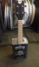 Bohemian Oil Can Electric Ukulele