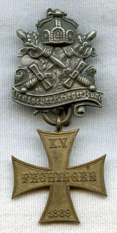 Imperial German Veteran Badge from Fechingen