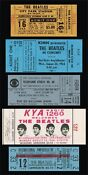 Beatles Unused Concert Ticket
