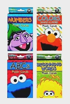 NEW Sesame Street Flash Cards Letters Numbers Alphabet Shapes Colors Xmas Kids