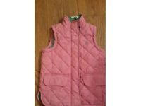 Gilet in pink by joules