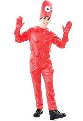 NEW YO GABA GABA MUNO HALLOWEEN ADULT COSTUME JUMPSUIT & HAT SIZE M, MSRP - Adult Muno Costume