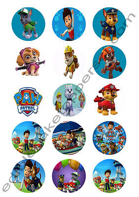 Paw Patrol Edible Print Premium Cupcake/Cookie Toppers Frosting Sheets 2 Sizes